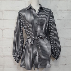 Oversized Button down Loose Fit Top Sz S